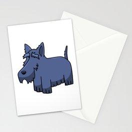 Cartoon Miniature Schnauzer Stationery Cards