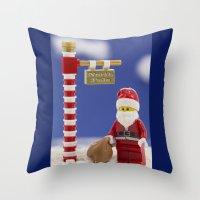 santa Throw Pillows featuring Santa by Pedro Nogueira