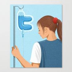 Twitter Drip Canvas Print