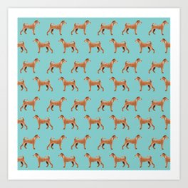 Irish Terrier dog breed pet pattern dog art pet friendly terriers portrait Art Print