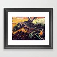 Blight Dragon Framed Art Print