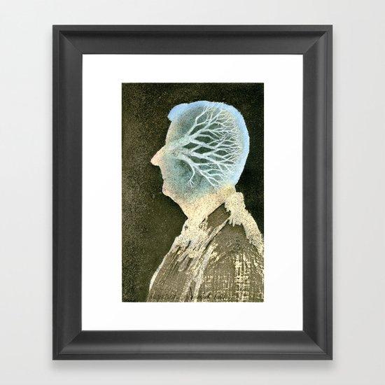 Self-portrait with a tree Framed Art Print