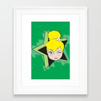 tinker bell Framed Art Prints featuring I Am Smart - Tinker Bell by AmadeuxArt
