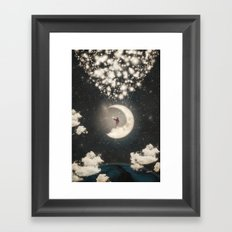 The Big Journey of the Man on the Moon  Framed Art Print