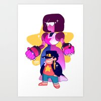 johannathemad Art Prints featuring steven and his stand by JohannaTheMad