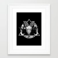 goat Framed Art Prints featuring Goat by alesaenzart
