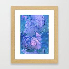 Mermaid's games Framed Art Print