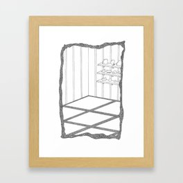 rooms are shelves Framed Art Print
