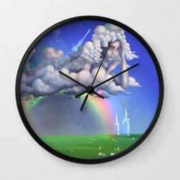 The rainbow godess Wall Clock