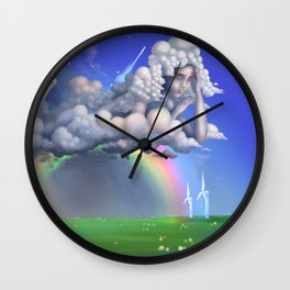 The rainbow godess Wall Clock