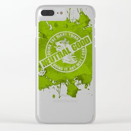 d20 Neutral Good Alignment Clear iPhone Case