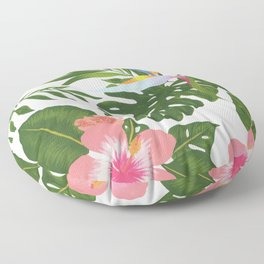 Jungle Floral Print Floor Pillow