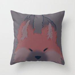 Somnolent Fox Throw Pillow