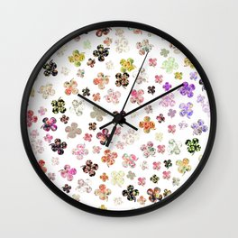 Floral St Patrick's Clovers Wall Clock