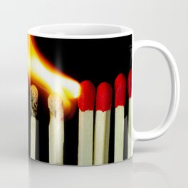 burning matches in design Coffee Mug