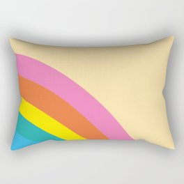Retro Corner Rainbow Rectangular Pillow