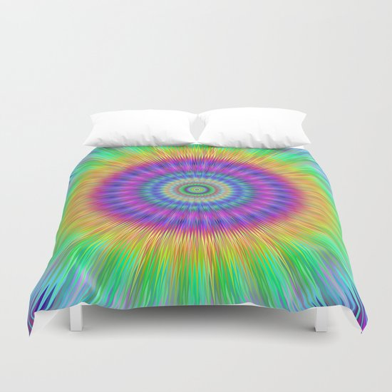 Colorful explosion Duvet Cover
