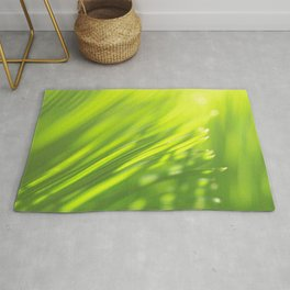 Palm tree leaves Tropical summer green yellow jungle Rug