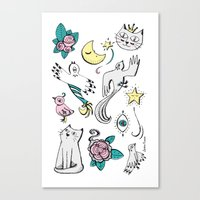 tatoo Canvas Prints featuring Tatoo by Lorene R illustration