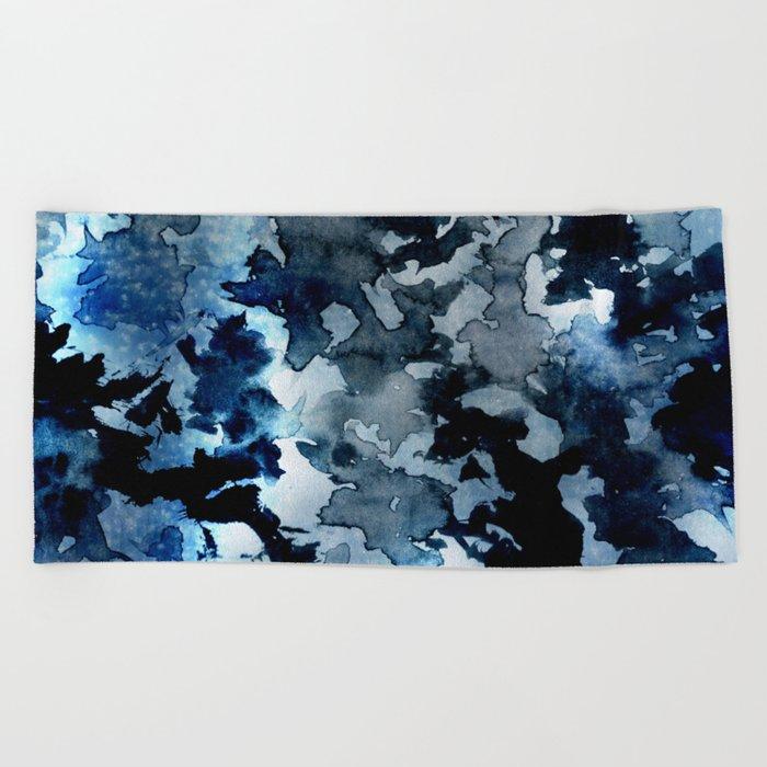 Shadows - Blue Dream Beach Towel