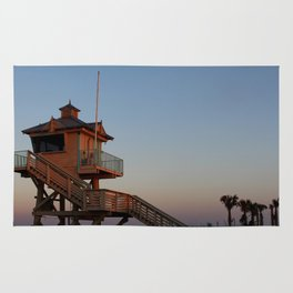 Guard Tower At Dusk Rug