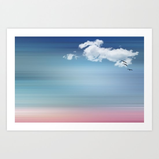 LANDSCAPE PINK ABSTRACT Art Print