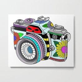 Flower camera Metal Print