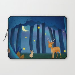 Forest Animals At Night Laptop Sleeve