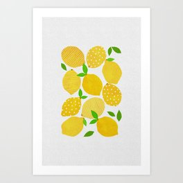 Lemon Crowd Art Print