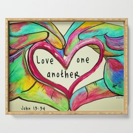 Love One Another John 13:34 Serving Tray