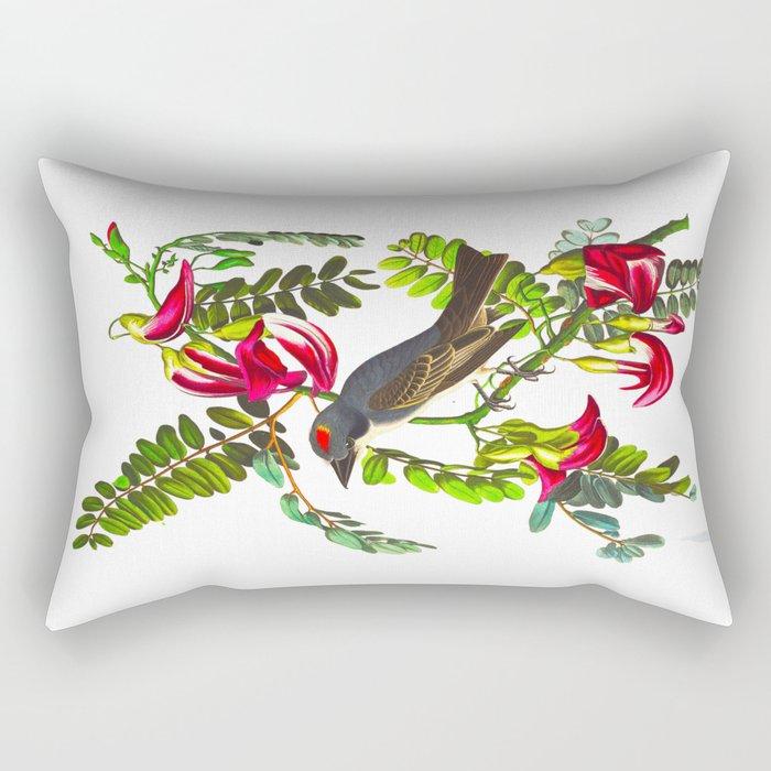 Piping Flycatcher Bird Rectangular Pillow