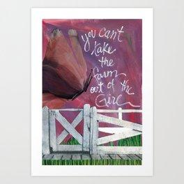Farm Girl by Seattle Artist Mary Klump Art Print