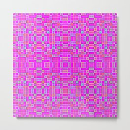 Candy Colored Pixels Metal Print