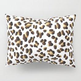 Black & Gold Leopard Spots Pillow Sham