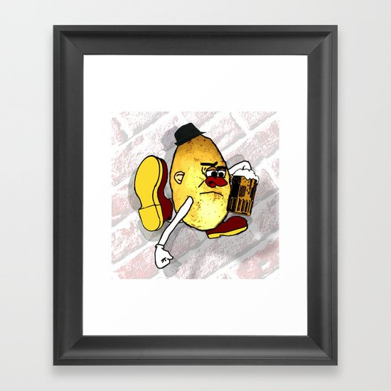 Potato Skin Framed Art Print