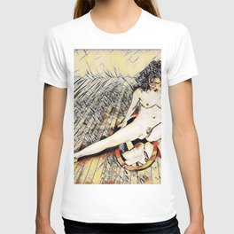 6078s-KD Mirror Reflections Erotic Art in the style of Wassily Kandinsky T-shirt