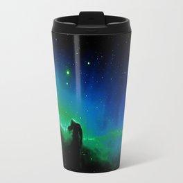 Horsehead nEBula. Blue & Green Travel Mug