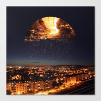 witchoria Canvas Prints featuring Little Dreamer by witchoria