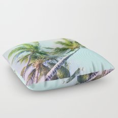 Relaxing Rainbow Color Palms Floor Pillow