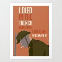 boardwalk empire Art Prints featuring Boardwalk Empire 'Trench' by JDGC