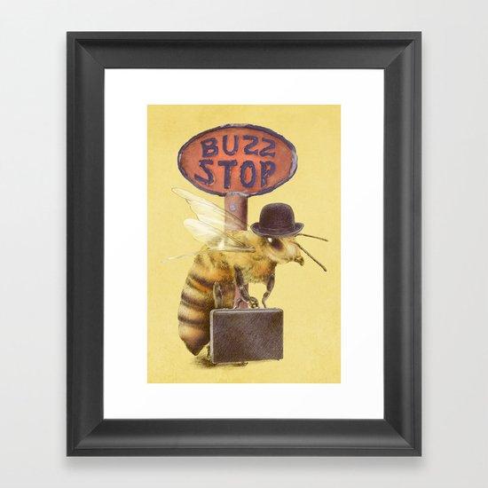 Worker Bee (colour option) Framed Art Print