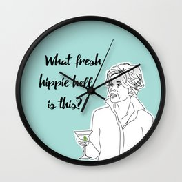 Grace's Hippie Hell Wall Clock
