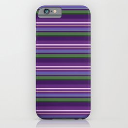 Lavender Bee Stripes iPhone Case