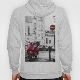 Red Vespa in Paris Hoody