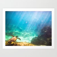 under the sea Art Prints featuring Under by Chase Zalewski