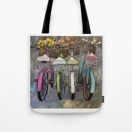 Greatest of These Bikes Tote Bag