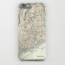 Vintage Map of Maine (1893) iPhone Case