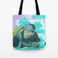 scuba Tote Bags featuring Scuba Steve by Even In Death