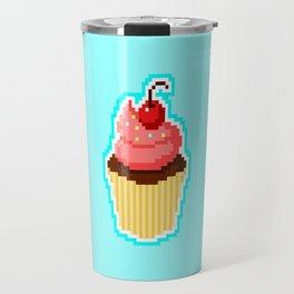 Pixel Cupcake Travel Mug