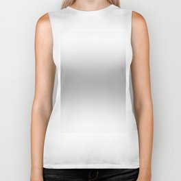 White to Gray Horizontal Bilinear Gradient Biker Tank